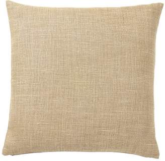 Pottery Barn Belgian Linen Pillow Cover - Straw
