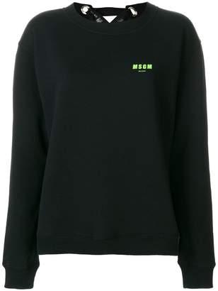 MSGM lace-up back sweatshirt