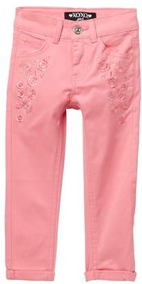 XOXO Embroidered Roll Cuff Capri (Big Girls)