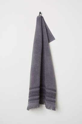 H&M Striped Hand Towel - Gray