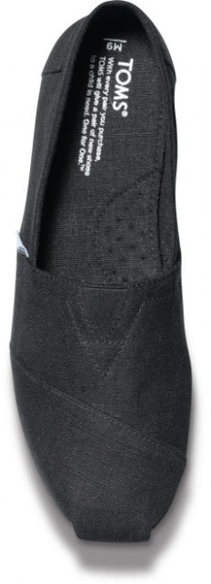 Toms Earthwise black men's vegan classics