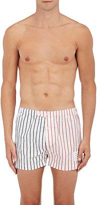 Thom Browne Men's Striped Cotton Poplin Boxers $150 thestylecure.com