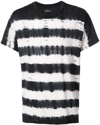 Amiri tie dye striped T-shirt