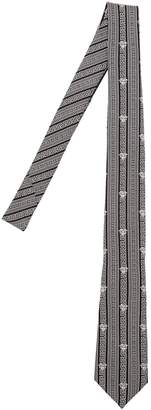 Versace 7cm Greek Motif Silk Twill Tie