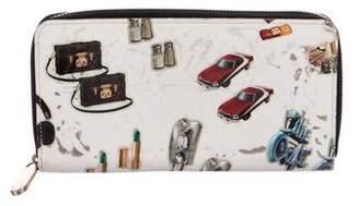 Louis Vuitton Monogram Vernis Stickers Zippy Wallet