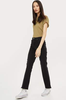 Topshop Womens Tall Washed Black Dree Jeans - Washed Black