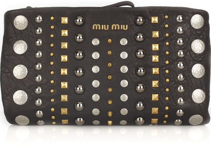 Miu Miu Studded leather clutch