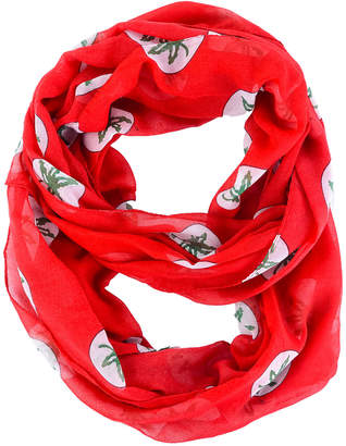 Forever Collectibles Ohio State Buckeyes All Over Logo Infinity Wrap Scarf