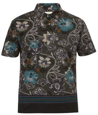 Etro Hawaiian Paisley Print Cotton Pique Polo Shirt - Mens - Green Multi