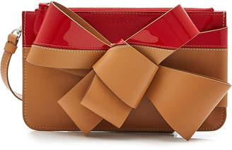 DELPOZO Bow Leather Clutch