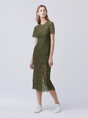 Carly Lace Midi Dress $598 thestylecure.com