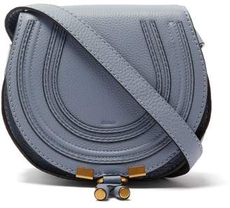 Chloé Marcie Mini Leather Cross Body Bag - Womens - Light Blue