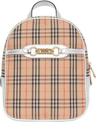 Burberry Link Vintage Check Canvas Backpack