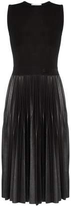 Givenchy sleeveless pleated mid-length dress