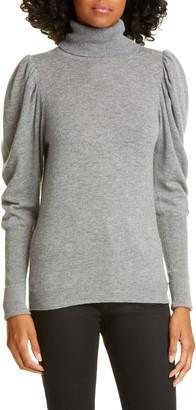 Autumn Cashmere Leg of Mutton Sleeve Turtleneck Cashmere Sweater