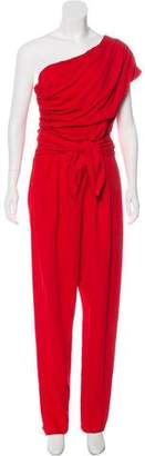 Max Mara One-Shoulder High-Rise Jumpsuit