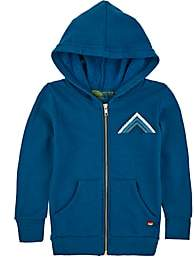 Aviator Nation Kids' Mountain-Striped Cotton-Blend Hoodie-Blue