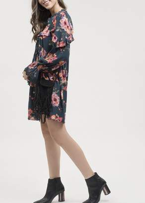 Blu Pepper Ruffled Floral Dress