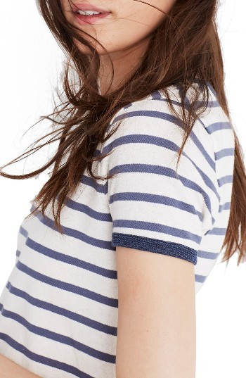 Women's Madewell Stripe Recycled Cotton Ringer Tee 2