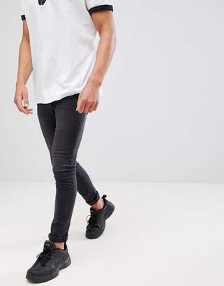 Mennace Washed Black Super-Skinny Cordoza Jeans