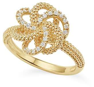 Lagos 18K Yellow Gold Love Knot Ring with Diamonds