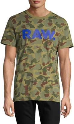 G Star Raw Camouflage Cotton Tee