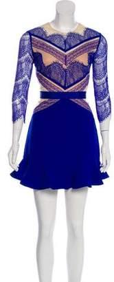 Three floor Lace A-Line Mini Dress