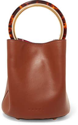Marni Pannier Leather Bucket Bag - Brown
