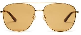 Gucci Square Frame Sunglasses - Womens - Brown