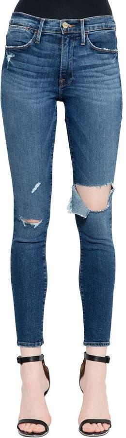 Jeans Aus Denim Mit Ausschnitten