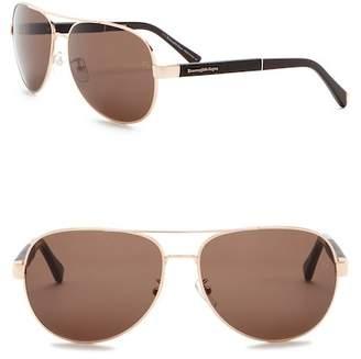 Ermenegildo Zegna 62mm Aviator Sunglasses