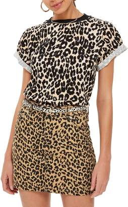 Topshop Leopard Print Tee