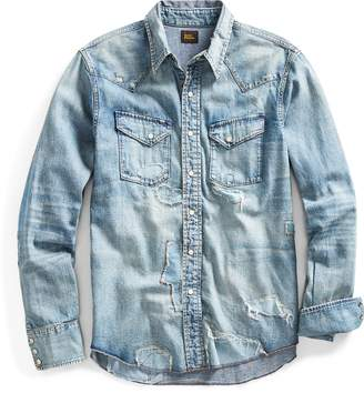 Ralph Lauren Distressed Denim Western Shirt