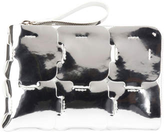 Paco Rabanne 16#01 Mirror Zip Clutch Bag