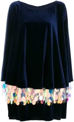 Talbot Runhof long sleeved sequin dress
