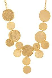 Kenneth Jay Lane WOMEN'S YELLOW-GOLD-PLATED COIN BIB NECKLACE-GOLD