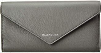 Balenciaga Papier Money Leather Continental Wallet