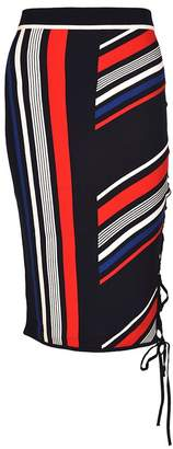 Tommy Hilfiger Lace-up Striped Skirt