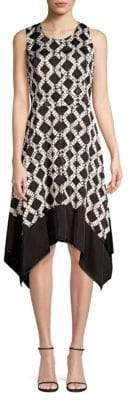 Donna Karan Geometric Trapeze Dress