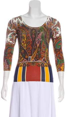 Etro Silk Paisley Sweater