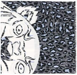 Kenzo leopard print tiger scarf