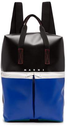 Marni Colour Block Panelled Backpack - Mens - Black Multi