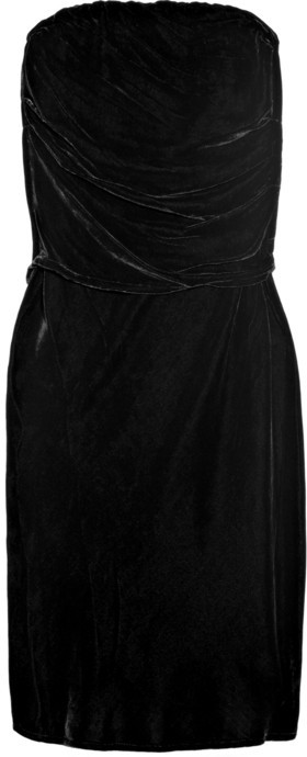Vanessa Bruno Athé Strapless velvet dress