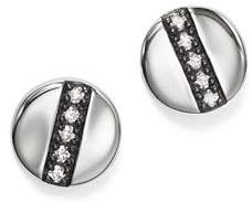 Ippolita Sterling Silver Glamazon® Stardust Station Stud Earrings with Diamonds