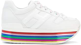 Hogan striped platform logo sneakers