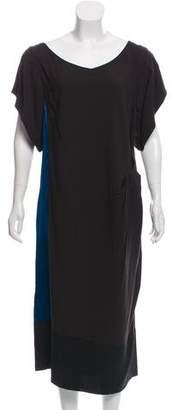 Dries Van Noten Colorblock Midi Dress