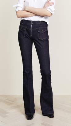 Victoria Beckham Victoria Zipper Flare Jeans