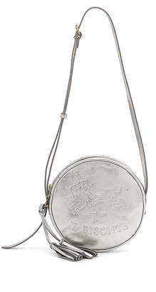 Il Bisonte Metallic Circle Crossbody Bag, Silver
