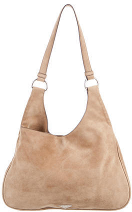 pradaPrada Suede Shoulder Bag
