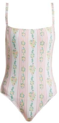 Emilia Wickstead Scarlet Floral Print Swimsuit - Womens - Pink Print